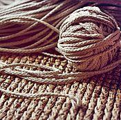 Материалы для творчества ручной работы. Ярмарка Мастеров - ручная работа Нет в наличии! 3023L шнур льняной натуральный. Handmade.