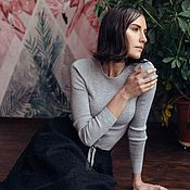 Одежда handmade. Livemaster - original item Cashmere long sleeve jumper. Handmade.