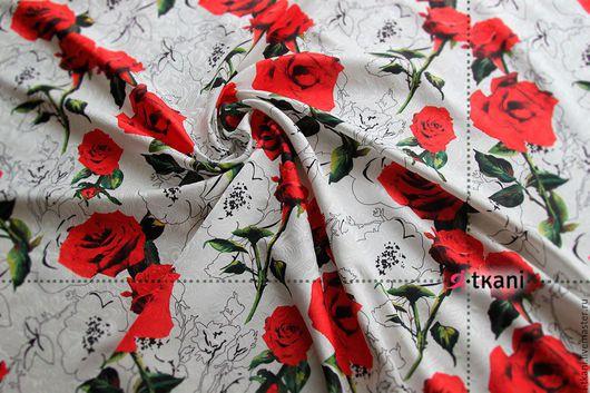 JK02-001 Жаккард `Розы`. Цвет белый. 20%хб, 80%пэ. Ширина 140см.  Плотность: 310г/м2. Китай.