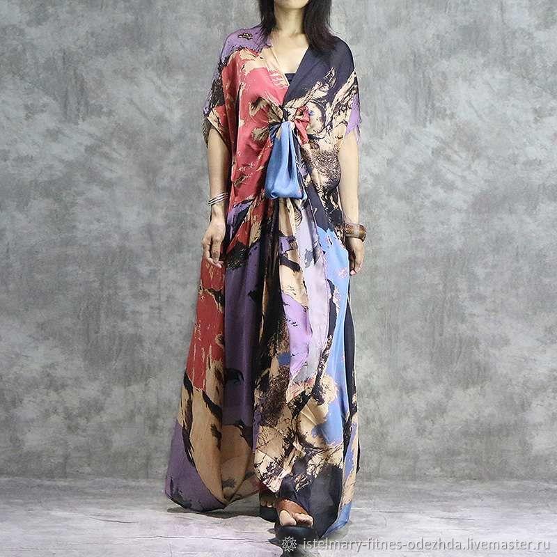 Платье с принтом в бохо стиле – заказать на Ярмарке Мастеров – L8X2QRU | Платья, Москва