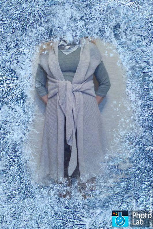 Кофты и свитера ручной работы. Ярмарка Мастеров - ручная работа. Купить Кардиган- пальто- трансформер. Handmade. Серый, модная одежда