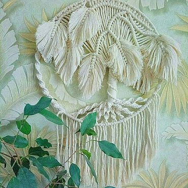 Для дома и интерьера ручной работы. Ярмарка Мастеров - ручная работа Белое мохнатое дерево. Handmade.