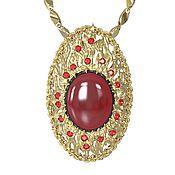 Украшения handmade. Livemaster - original item Gold pendant of