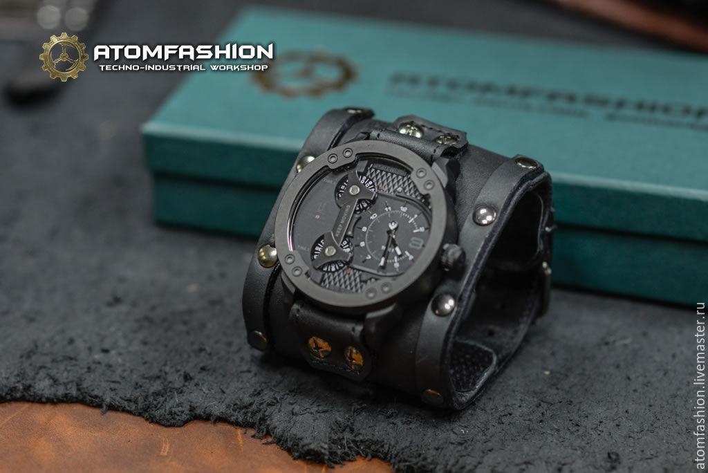 Купить часы мужские на широком браслете