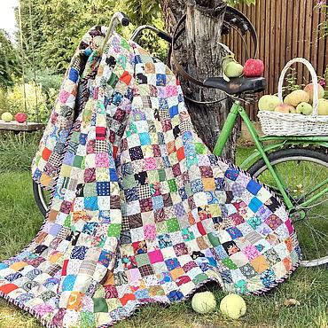 Текстиль ручной работы. Ярмарка Мастеров - ручная работа Лоскутное одеяло Дачница плед хлопок. Handmade.
