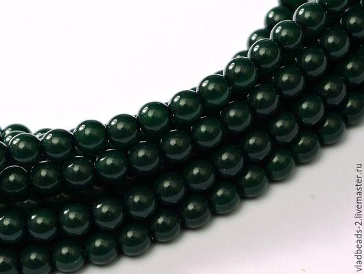 Для украшений ручной работы. Ярмарка Мастеров - ручная работа. Купить Бусины 3мм чешские стеклянные Dark Green. Handmade.