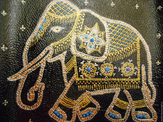 """Вазы ручной работы. Ярмарка Мастеров - ручная работа. Купить Тарелка """"Индийский сон"""". Handmade. Черный, слон, Тарелка декоративная"""