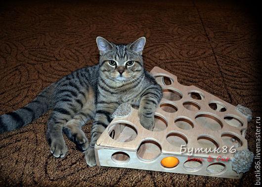 игрушка для кота, кошки, котенка, деревянная, ручная работа, авторская модель, Сырница, игрушка для кошки, для кота, для котят, katze, cat, for cats, pet toy