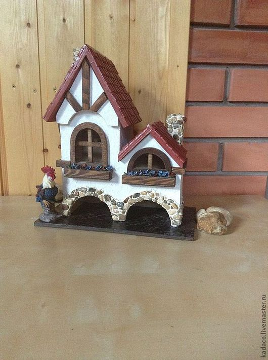 Кухня ручной работы. Ярмарка Мастеров - ручная работа. Купить Чайный домик в стиле фахверк (двойной). Handmade. Дом, фахверк
