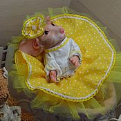 handmade. Livemaster - original item Reborn mouse or Mouse Mascot from the sculptor Sylvia Manning. Handmade.