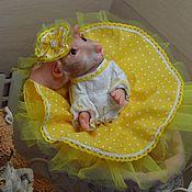 Куклы и игрушки ручной работы. Ярмарка Мастеров - ручная работа Мышка реборн или  Mouse Mascot от скульптора Sylvia Manning. Handmade.