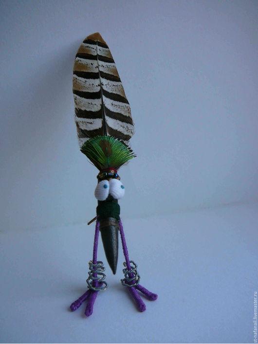 Игрушки животные, ручной работы. Ярмарка Мастеров - ручная работа. Купить Птица Вождь африканского племени. Handmade. Комбинированный