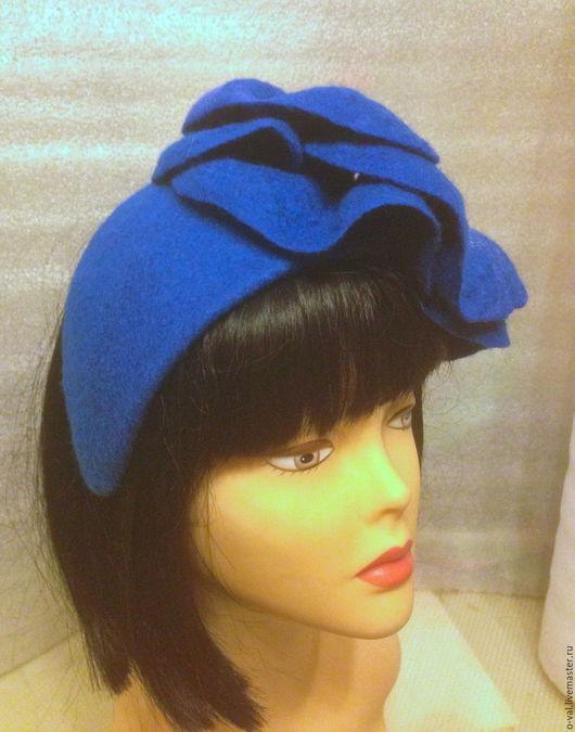 Шляпы ручной работы. Ярмарка Мастеров - ручная работа. Купить ДЛЯ  ОКСАНЫ. Handmade. Тёмно-синий, шляпка женская