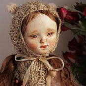 Куклы и игрушки ручной работы. Ярмарка Мастеров - ручная работа Тедди-доллочка в розовом. Handmade.