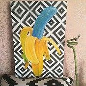 Картины и панно ручной работы. Ярмарка Мастеров - ручная работа Crazy Banana (сумасшедший банан). Handmade.