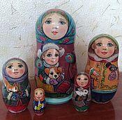 Русский стиль handmade. Livemaster - original item Matryoshka with the puppy. Handmade.