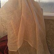 Винтаж handmade. Livemaster - original item Large stole100% Linen ,vintage Italy. Handmade.
