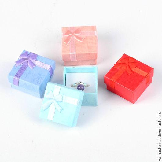 Упаковка ручной работы. Ярмарка Мастеров - ручная работа. Купить Подарочная коробочка 4х4х2,5 картон для украшений. Handmade. Коробочка