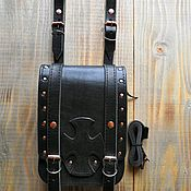 Поясная сумка ручной работы. Ярмарка Мастеров - ручная работа Сумка на пояс с крестом. Handmade.