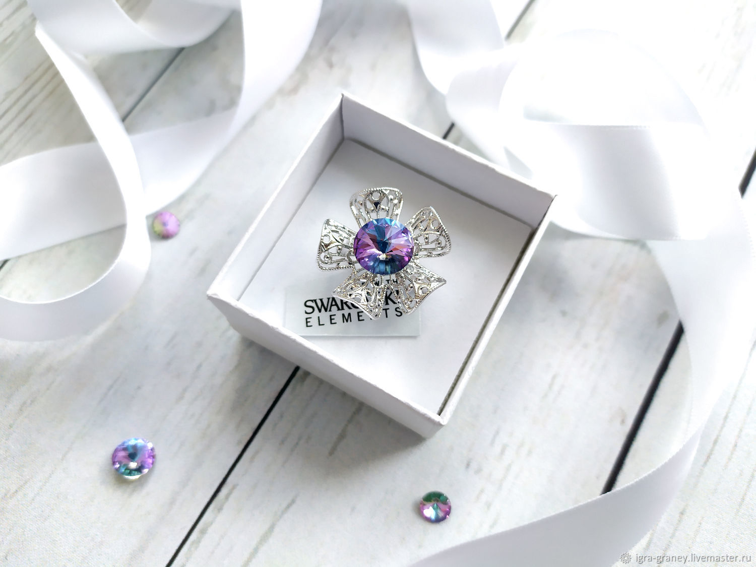 Ring with Swarovski crystal, Rings, Moscow,  Фото №1