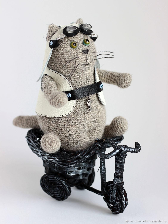 Вязаная игрушка кот. МотоКот, Мягкие игрушки, Минск,  Фото №1