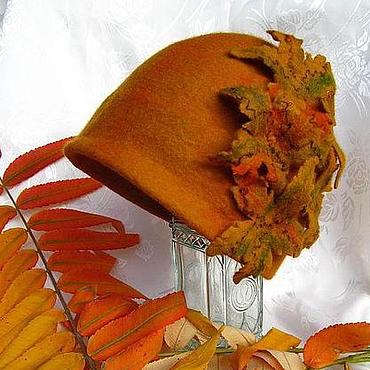 """Аксессуары ручной работы. Ярмарка Мастеров - ручная работа шляпка валяная """"Осенний шик"""". Handmade."""