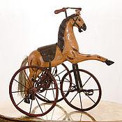 Винтаж ручной работы. Ярмарка Мастеров - ручная работа Лошадка-велосипед «Le cheval en bois»деревянная ностальгия детства меч. Handmade.