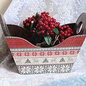 """Подарки к праздникам ручной работы. Ярмарка Мастеров - ручная работа Короб """" Рождество в Лапландии"""". Handmade."""