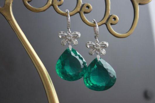 """Серьги ручной работы. Ярмарка Мастеров - ручная работа. Купить Серьги """"Emerald Valley """". Handmade. Зеленый, красивые серьги"""