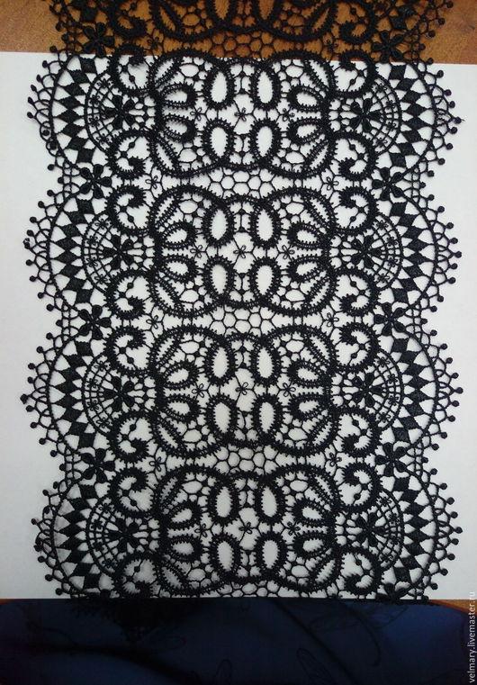 Аппликации, вставки, отделка ручной работы. Ярмарка Мастеров - ручная работа. Купить Кружево макраме Арт. 5635(Д2) черный. Handmade.