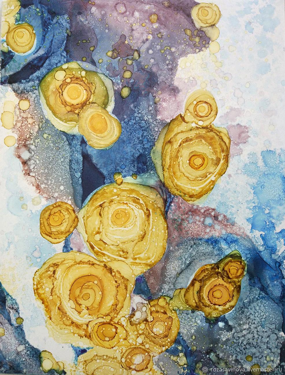 Цифровое изображение Желтые цветы. Абстракция. JPG файл для постера, Плакаты и постеры, Магнитогорск,  Фото №1
