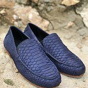Обувь ручной работы handmade. Livemaster - original item Moccasin Python skin. Handmade.