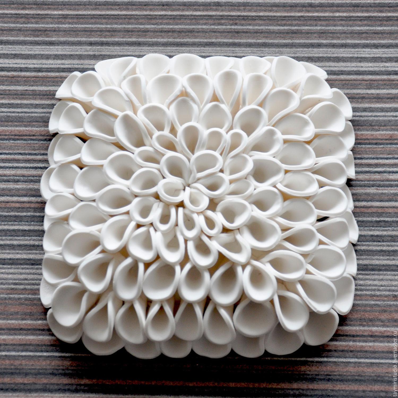Купить Объемное панно Белые Розы - белый, панно