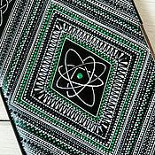 Канцелярские товары handmade. Livemaster - original item Men`s day planner black green dot painting geometry rhombus. Handmade.