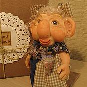 """Куклы и пупсы ручной работы. Ярмарка Мастеров - ручная работа Куклы-гномы  """"Удалила  жирное пятно с дивана....Как?  Развелась..."""". Handmade."""