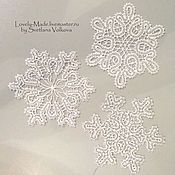 Подарки к праздникам handmade. Livemaster - original item The snowflakes are large.Stylized Vologda lace. lace snowflake. Handmade.
