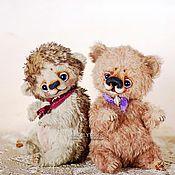 Куклы и игрушки ручной работы. Ярмарка Мастеров - ручная работа Ежик и Медвежонок - авторские игрушки тедди, мишка, еж, hedgehog bear. Handmade.