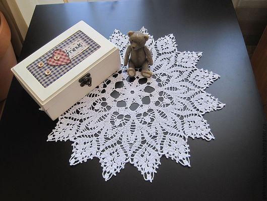 Текстиль, ковры ручной работы. Ярмарка Мастеров - ручная работа. Купить Салфетка № 109. Handmade. Белый, ажурная салфетка