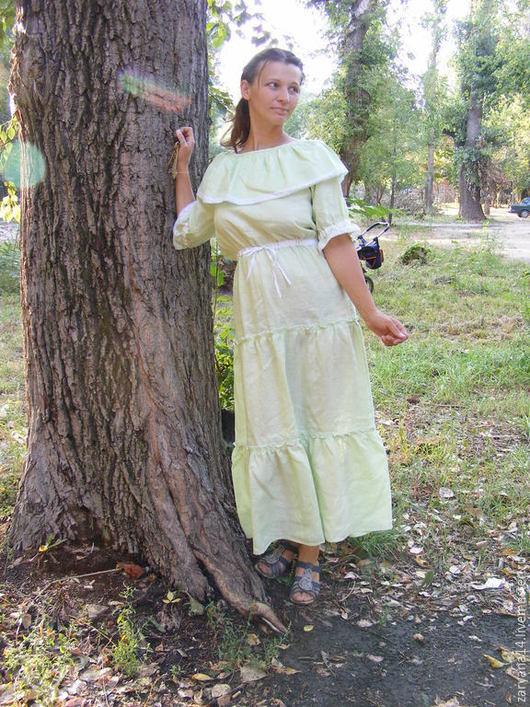 """Платья ручной работы. Ярмарка Мастеров - ручная работа. Купить Платье """"Хочу лето"""". Handmade. Мятный, длинное платье"""