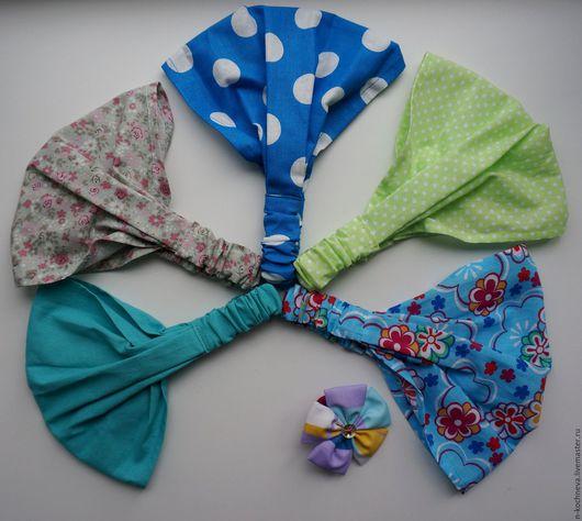 Шапки и шарфы ручной работы. Ярмарка Мастеров - ручная работа. Купить Косынка-бандана для девочки. Handmade. Комбинированный, повязка для девочки