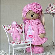 Куклы и игрушки ручной работы. Ярмарка Мастеров - ручная работа Зайка Шурочка с Тюней. Handmade.
