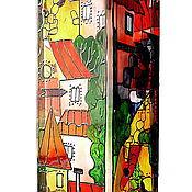 """Для дома и интерьера ручной работы. Ярмарка Мастеров - ручная работа Ваза для цветов """"Маленький город моей мечты"""". Handmade."""