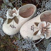 Обувь ручной работы. Ярмарка Мастеров - ручная работа Тапочки Осенние. Handmade.