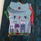 Сумки и аксессуары ручной работы. Ярмарка Мастеров - ручная работа Джинсовый рюкзак детский. Handmade.