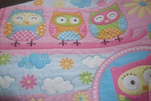 """Пледы и одеяла ручной работы. Ярмарка Мастеров - ручная работа. Купить Одеяло-покрывало детское """"Совята"""".. Handmade. Комбинированный, покрывало"""
