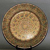 Посуда handmade. Livemaster - original item Decorative plate hand painted