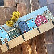 Для дома и интерьера handmade. Livemaster - original item Wall-mounted housekeepers: « In the city of Spring». Handmade.