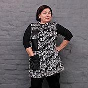 Одежда handmade. Livemaster - original item Vest made of jacquard, with three leather pockets. Art. 1485. Handmade.