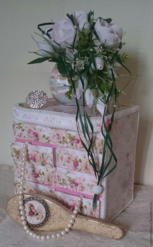 Мини-комоды ручной работы. Ярмарка Мастеров - ручная работа. Купить Мини комод в стиле Шебби-шик. Handmade. Розовый