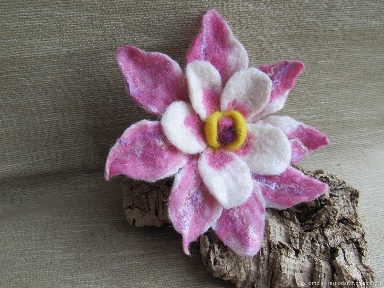 Малина, валяные цветы купить оптом